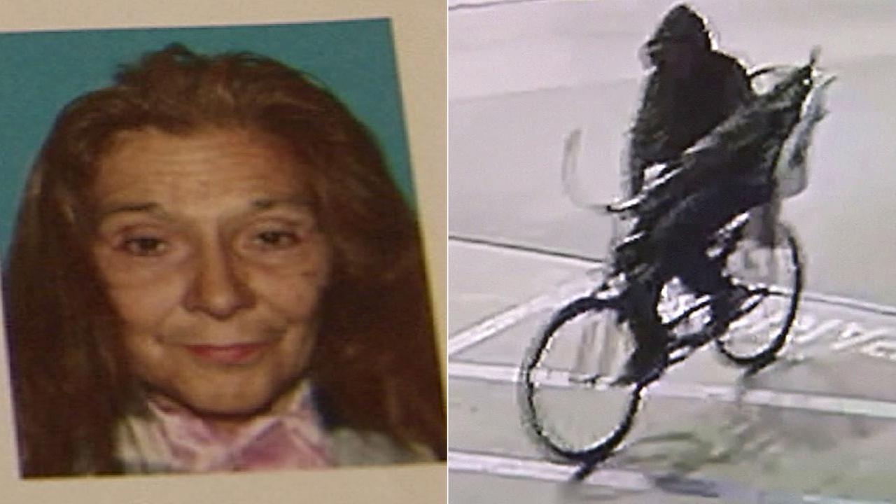 Police released surveillance video of a suspect wanted in the stabbing death of Irma Cuevas, 72, on Feb. 19, 2017.