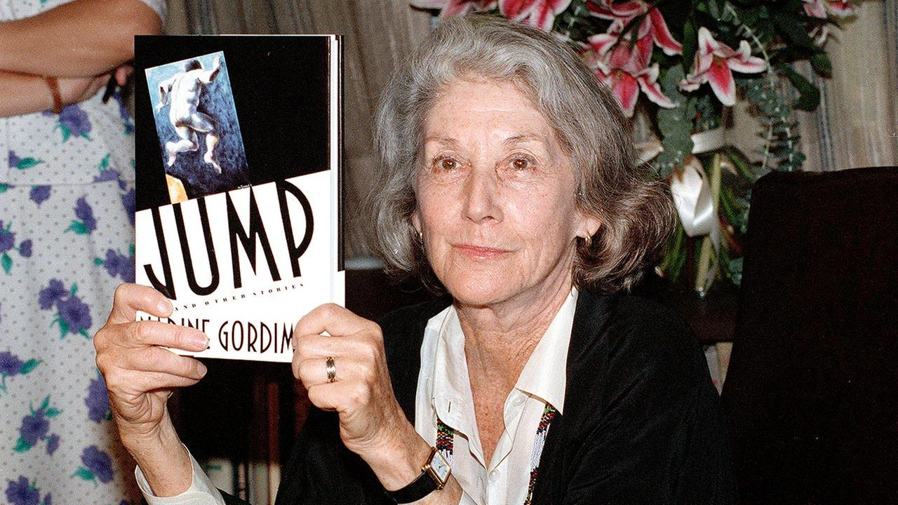 Nadine Gordimer, an author who won the Nobel Prize for novels that explored the cost of racial conflict in apartheid-era South Africa, died Sunday, July 13, 2014. She was 90.AP Photo/Ed Bailey