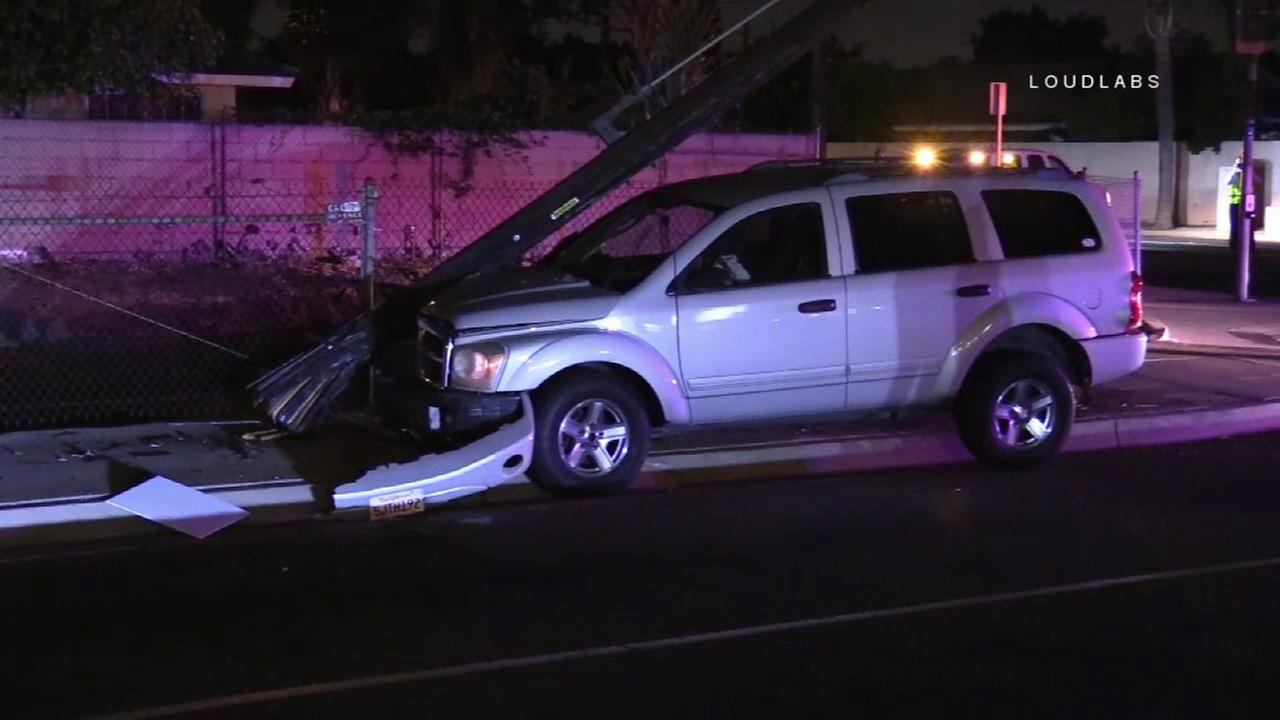 Good Samaritan pulls DUI suspect from SUV after vehicle topples power pole in Santa Ana