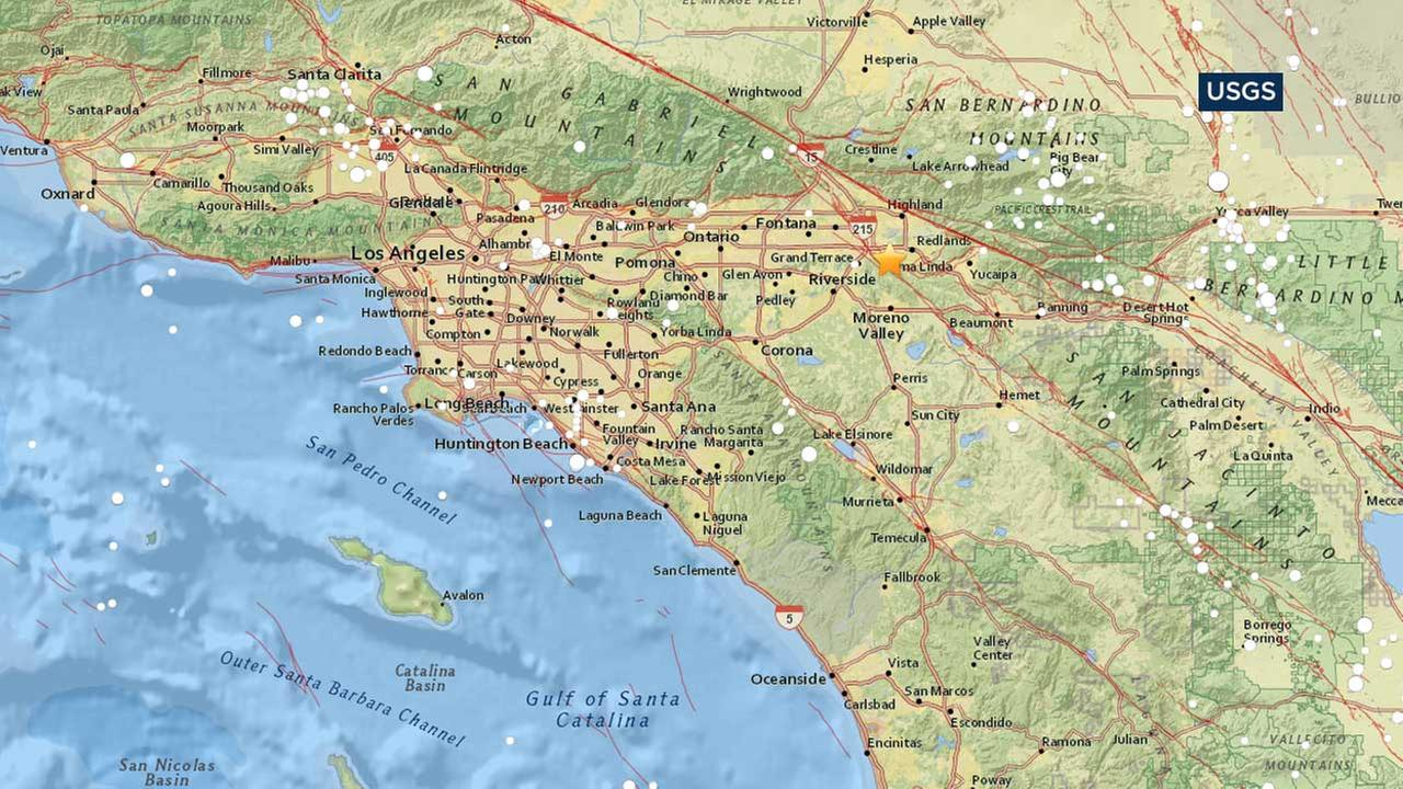 Preliminary-magnitude 3.3 earthquake strikes near Loma Linda, USGS says