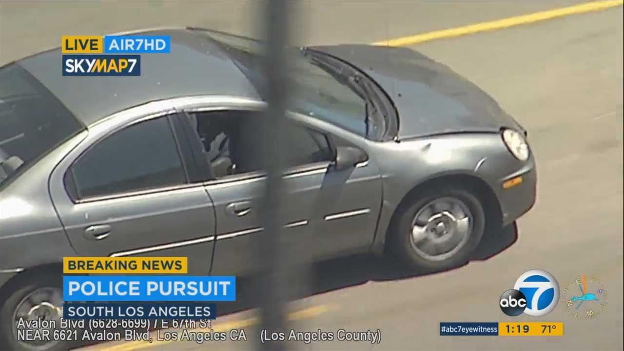 LAPD chase possible murder suspect through South Los Angeles