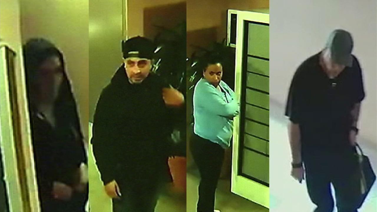 These suspects were seen taking mail from a Toluca Lake apartment complex in two separate incidents, according to the buildings tenants.