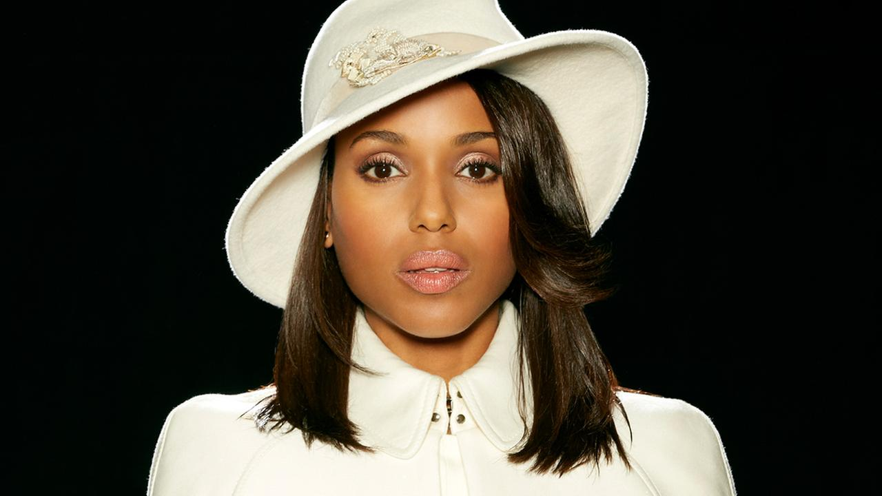 Kerry Washington appears in a promotional photo for ABCs hit drama Scandal.