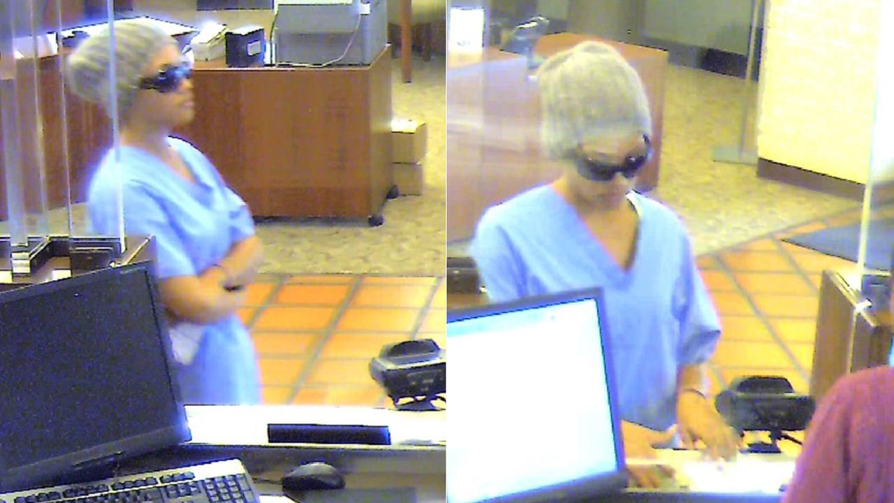 Still images from surveillance show a bank robbery suspect in Chino on Monday, July 14, 2014.