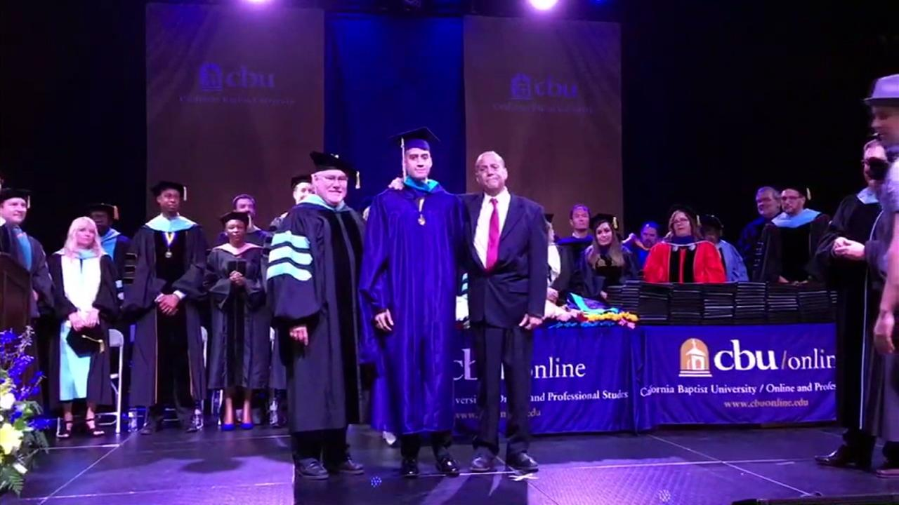 David Mendoza invited his father, battling stage four cancer, to take part in his graduation ceremony.