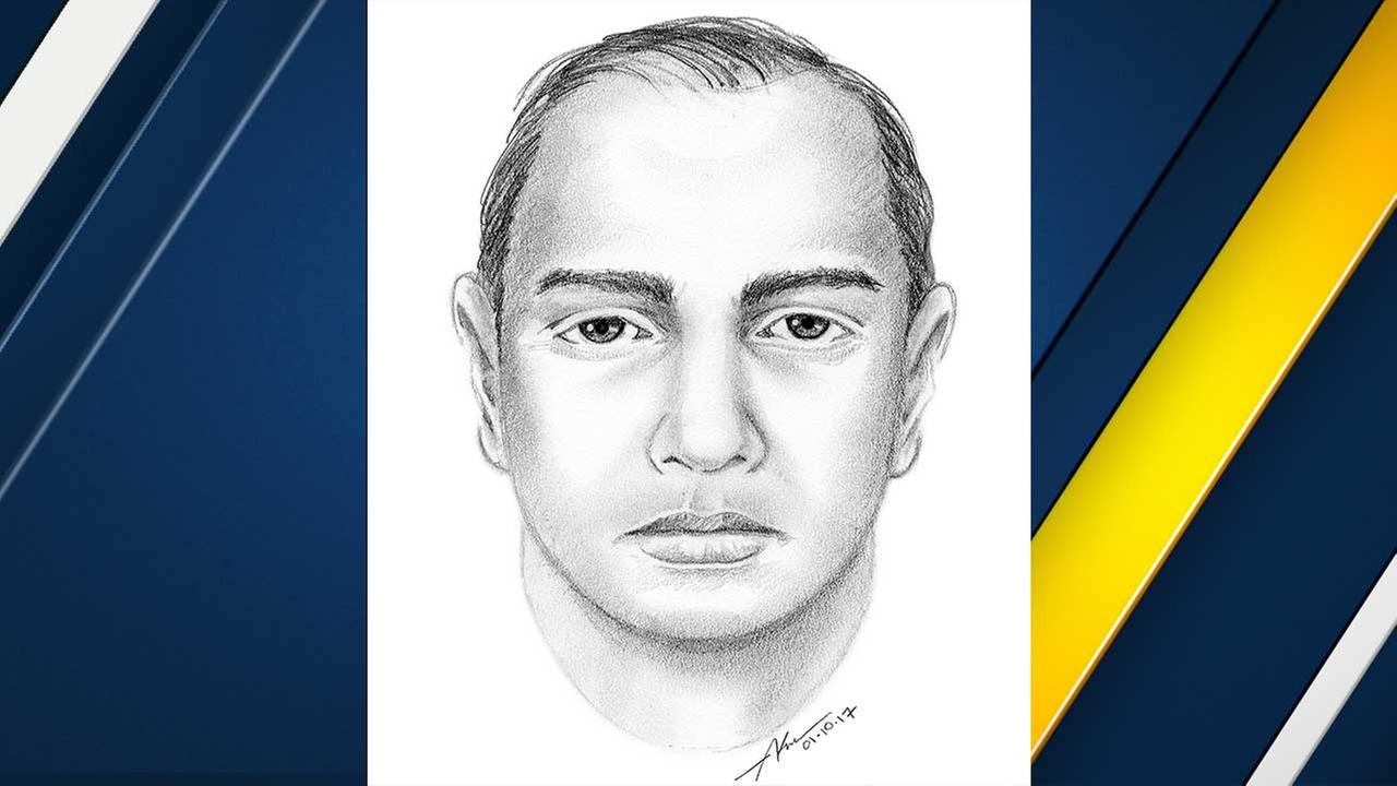 This police sketch depicts a suspect wanted for raping a woman in Hollywood on Jan. 7, 2017.