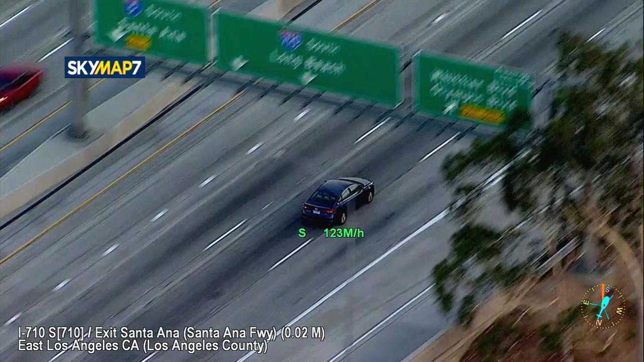 AIR7HDs SkyMap7 clocked a suspect at speeds over 120 mph in a chase through Arcadia, Commerce and South Gate.