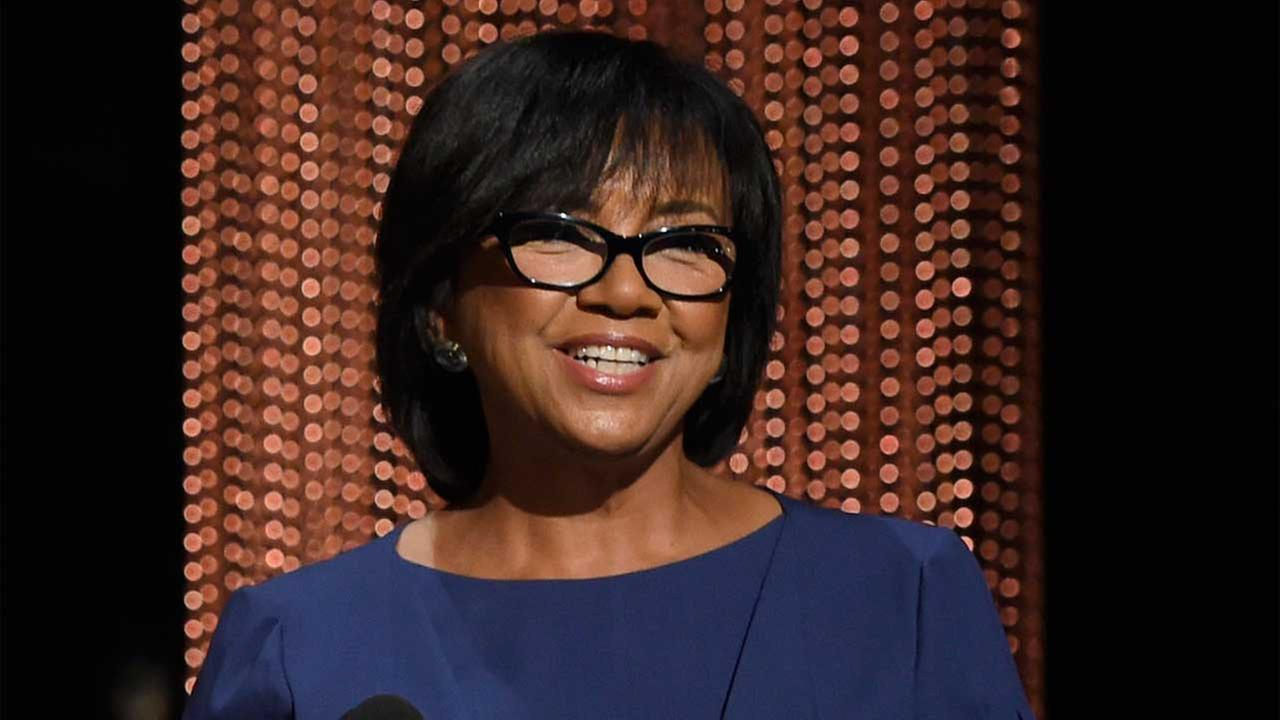 Academy President Cheryl Boone Isaacs announces the Academy Awards nominations at the 88th Academy Awards nomination ceremony.