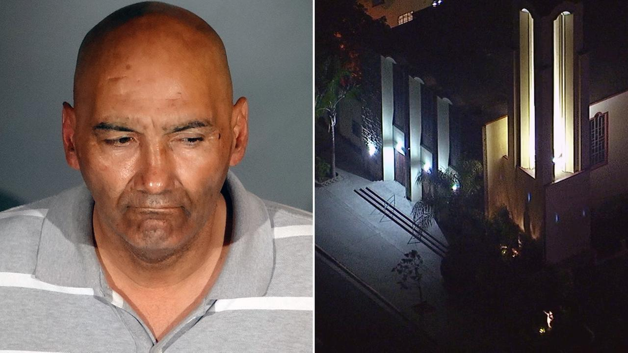 LAPD said 50-year-old James Melendez, of Los Angeles, attempted to sexually assault a female volunteer at Resurrection Catholic Church in Boyle Heights on Saturday, May 6, 2017.