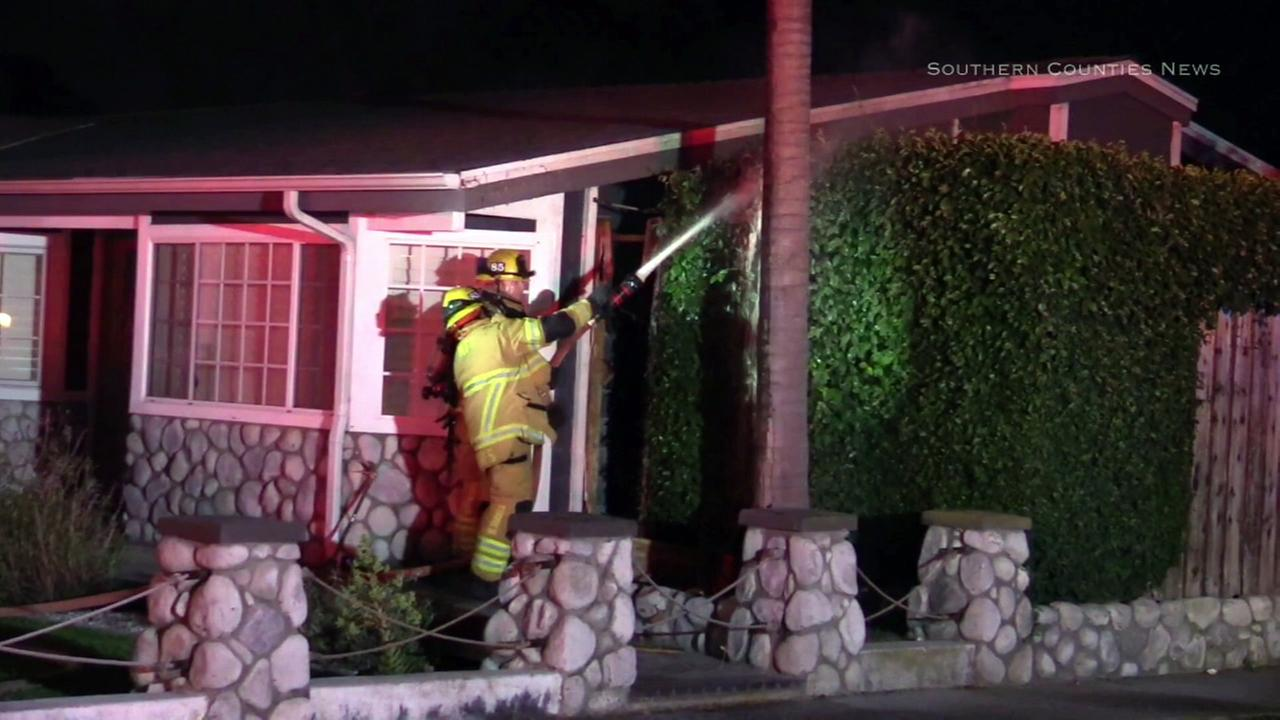 The Costa Mesa Fire Department said a man suffered burns in a possible honey oil lab fire in the 2200 block of Avalon Street in Costa Mesa on Thursday, May 11, 2017.
