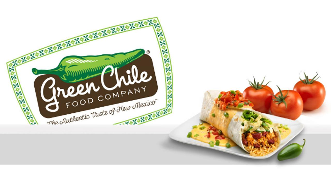 The Green Chile Food Companys logo is seen in a file photo.