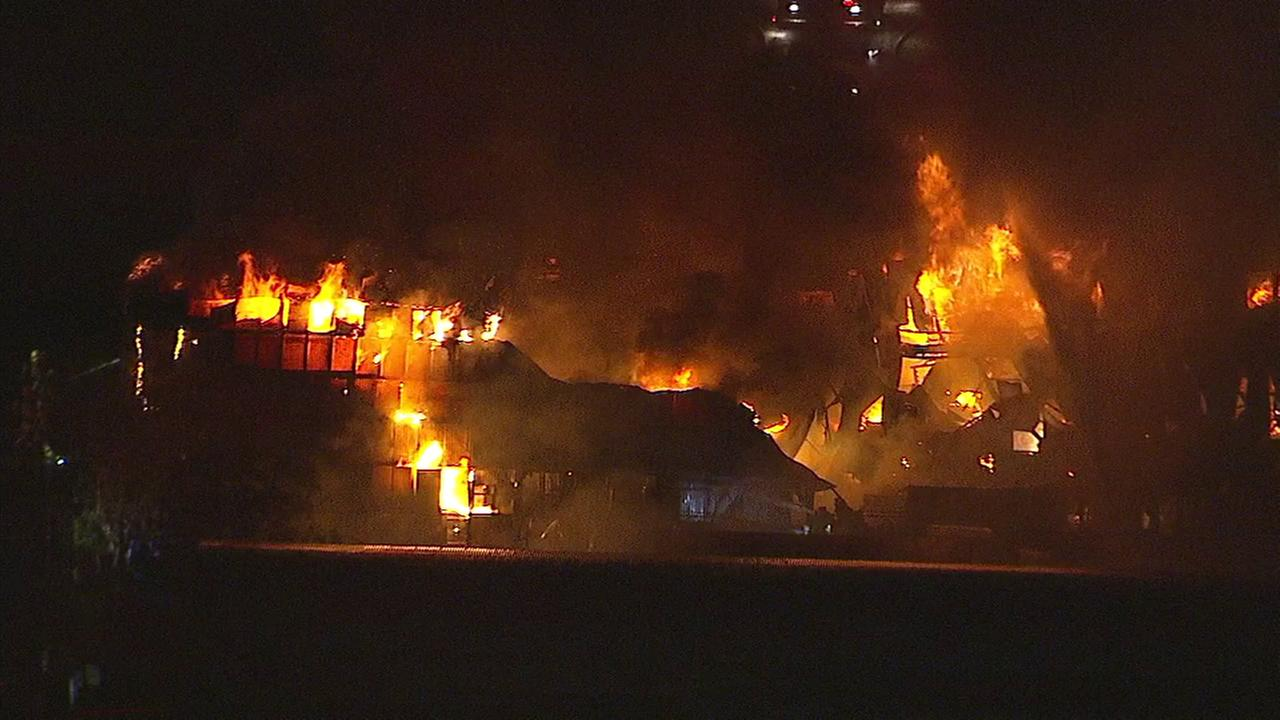 An inferno was raging at a furniture store in Temple City on Saturday, May 13, 2017.