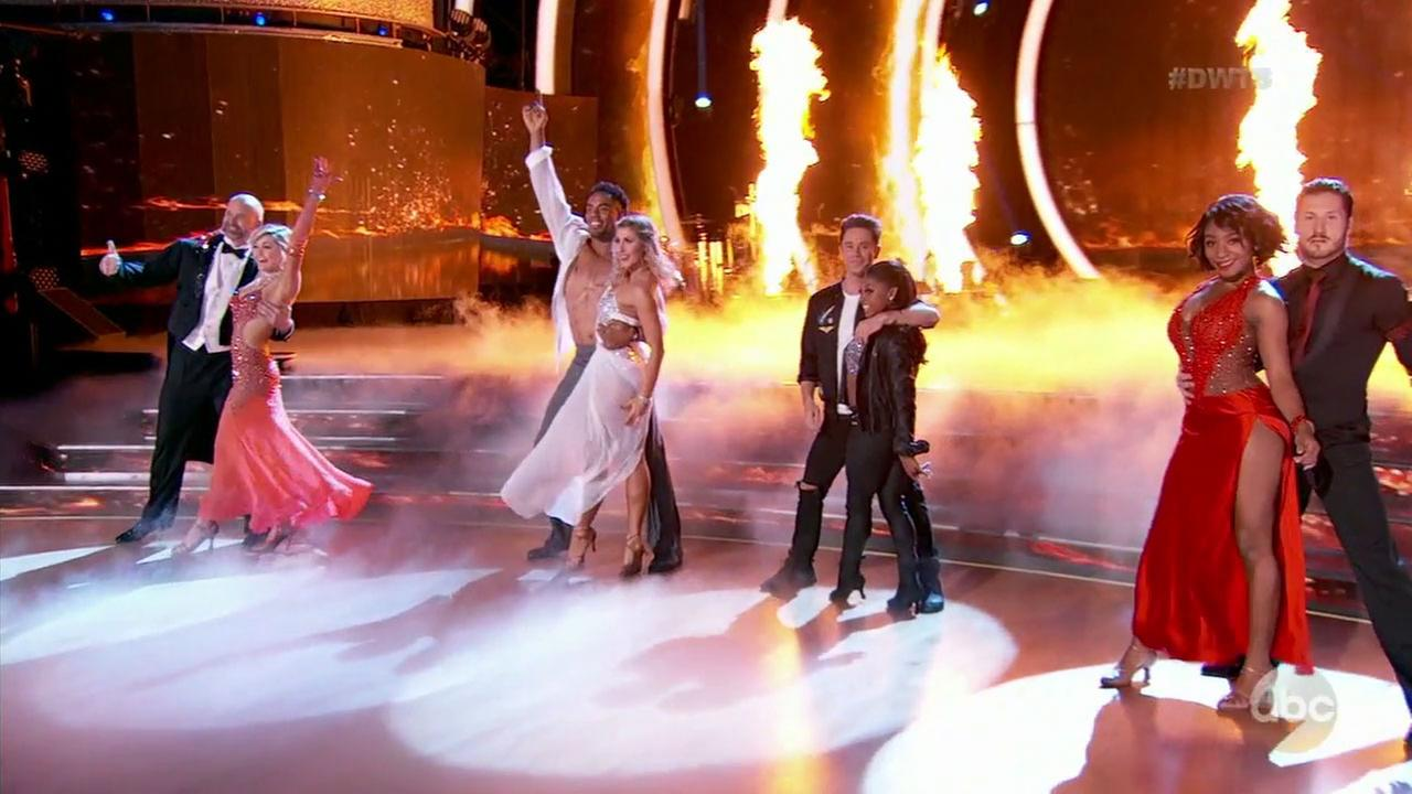 Each of the four remaining couples on Dancing with the Stars performed two dances in the semifinal before one high-scoring pair was shockingly eliminated.