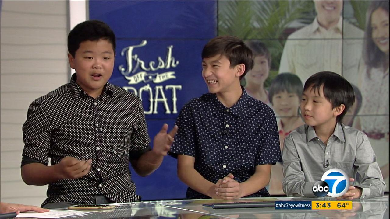 Hudson Yang, Forrest Wheeler and Ian Chen star as the three brothers of the Huang family on ABCs Fresh Off the Boat.