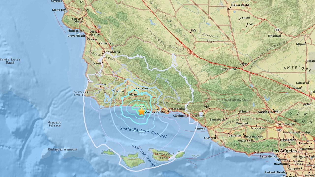 A pair of earthquakes rattled the Santa Barbara area.