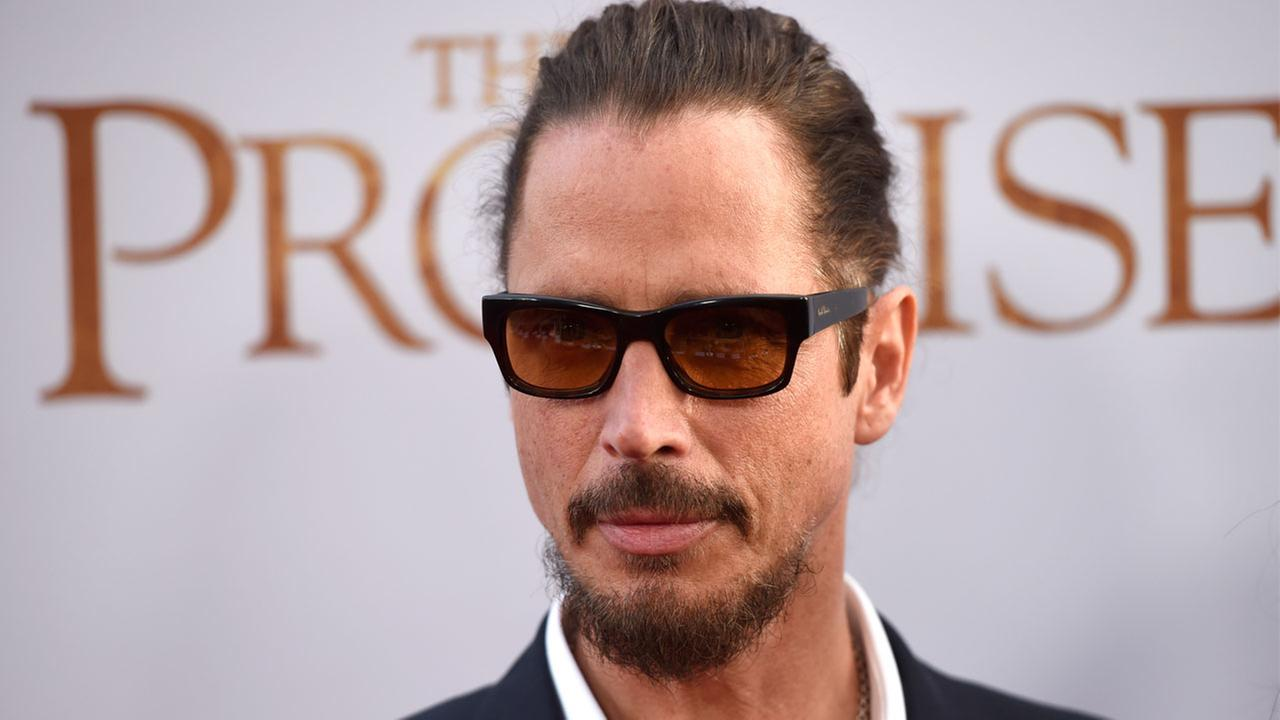 Chris Cornell arrives at the U.S. premiere of The Promise at the TCL Chinese Theatre on Wednesday