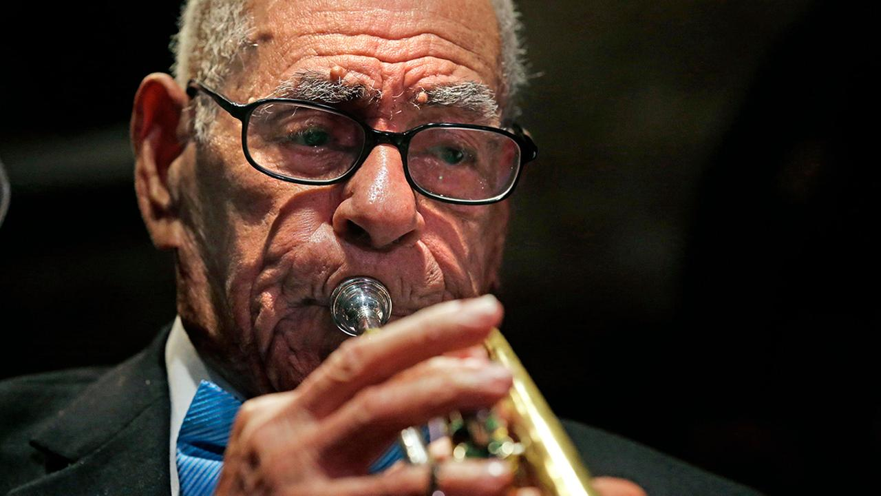 Centenarian jazz musician Lionel Ferbos has died at his home in New Orleans on Saturday, July 19, 2014. He was 103. <span class=meta>(Gerald Herbert)</span>