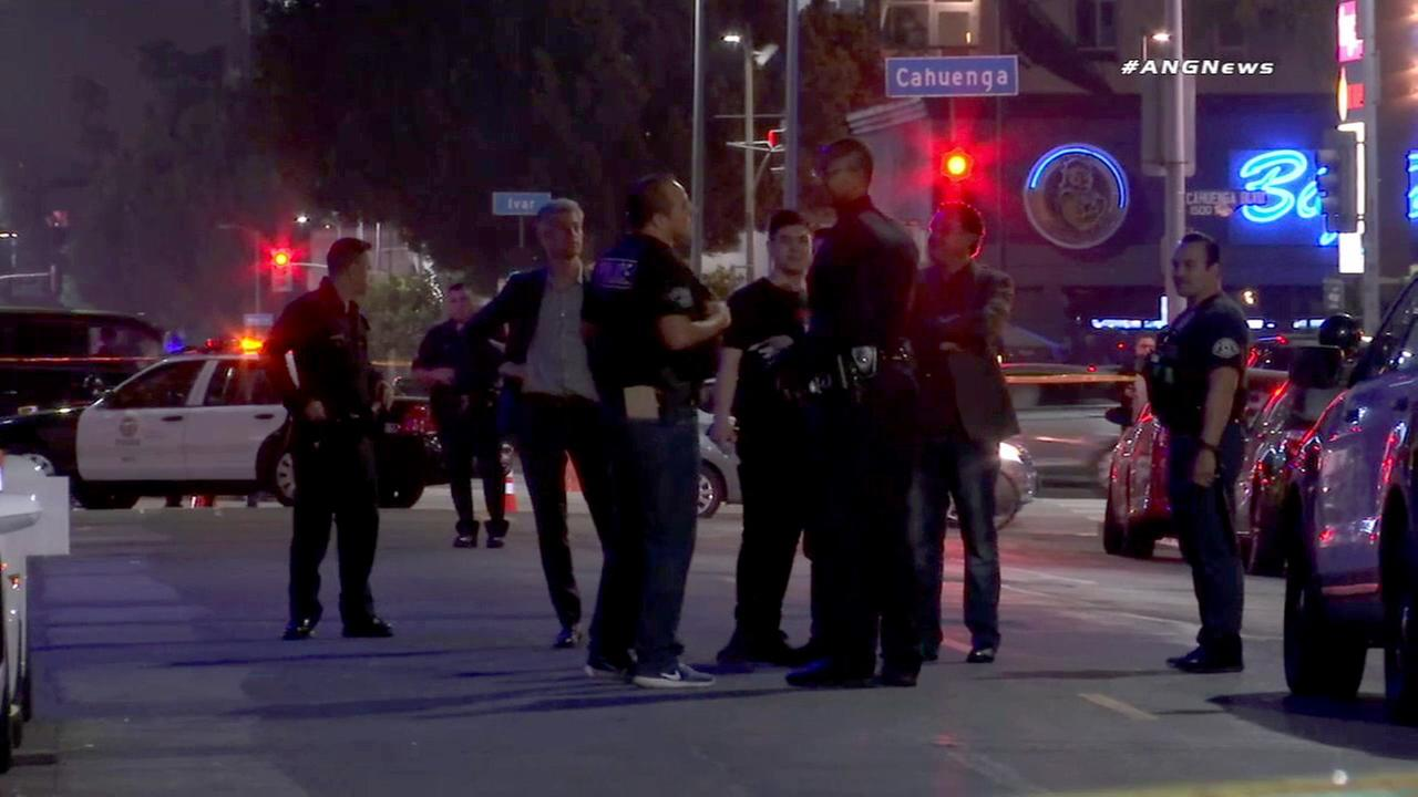 Los Angeles police officers and detectives responded to the fatal shooting of a man in Hollywood on Thursday, May 19, 2017.