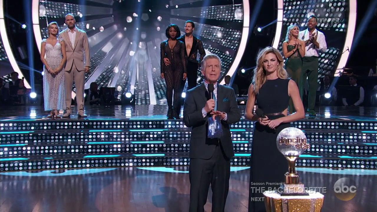 Three couples remain to vie for the mirrored ball trophy on Dancing with the Stars.
