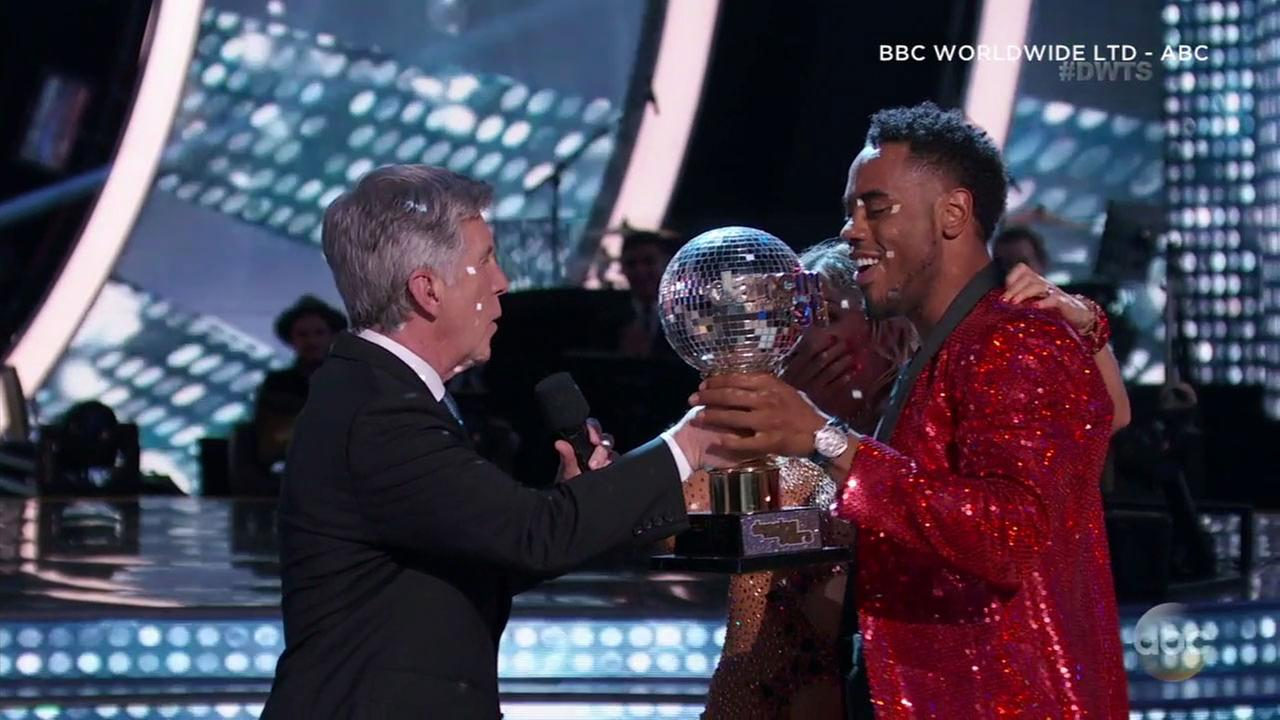 NFL star Rashad Jennings and his pro partner Emma Slater won the Mirrorball Trophy on Season 24 of Dancing with the Stars.