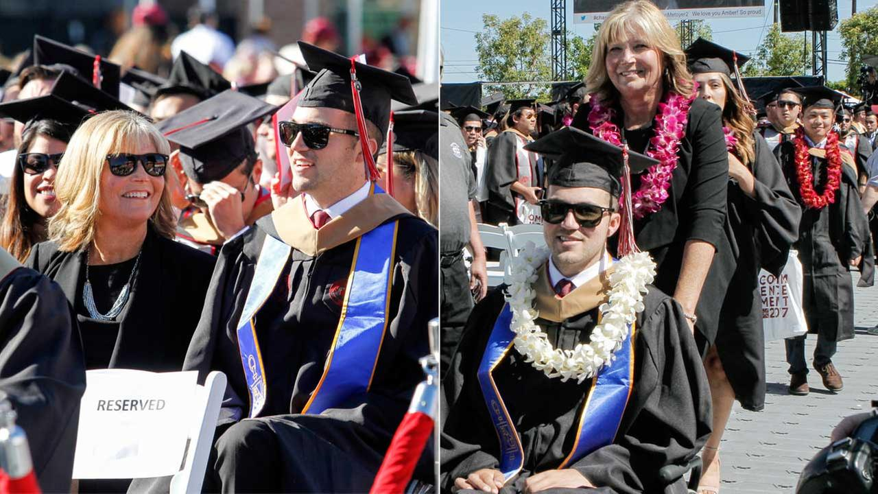 OC mom who went to classes with quadriplegic son gets honorary degree