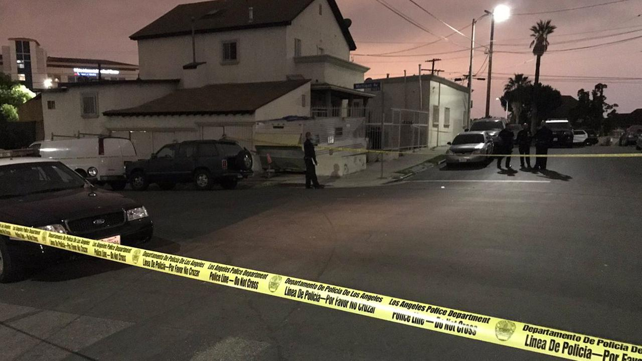 Los Angeles Police Department officers responded after a teenage boy was shot and wounded in Boyle Heights on Thursday, May 25, 2017.