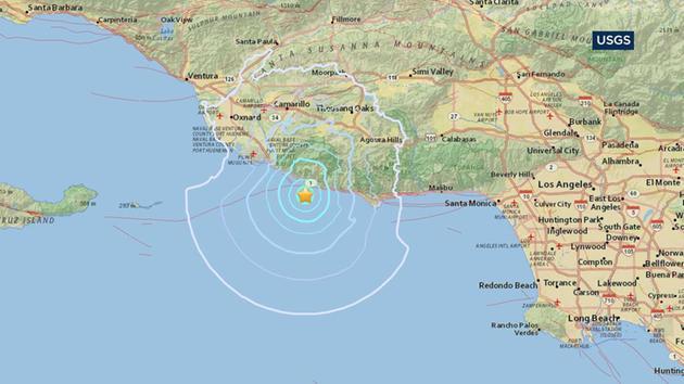 Small Offshore Earthquake Shakes Malibu Area Abccom - Earthquake area us map