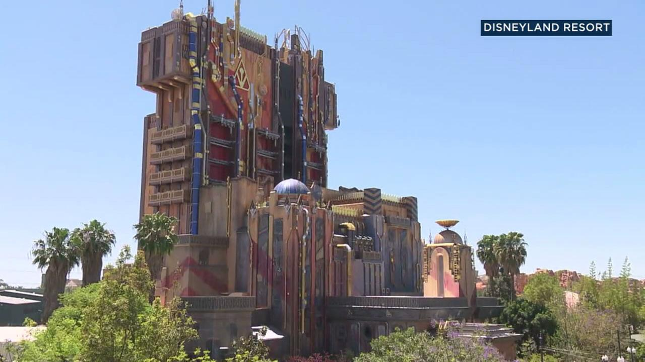 The new Guardians of the Galaxy rides exterior is shown in a Disneyland resort photo.