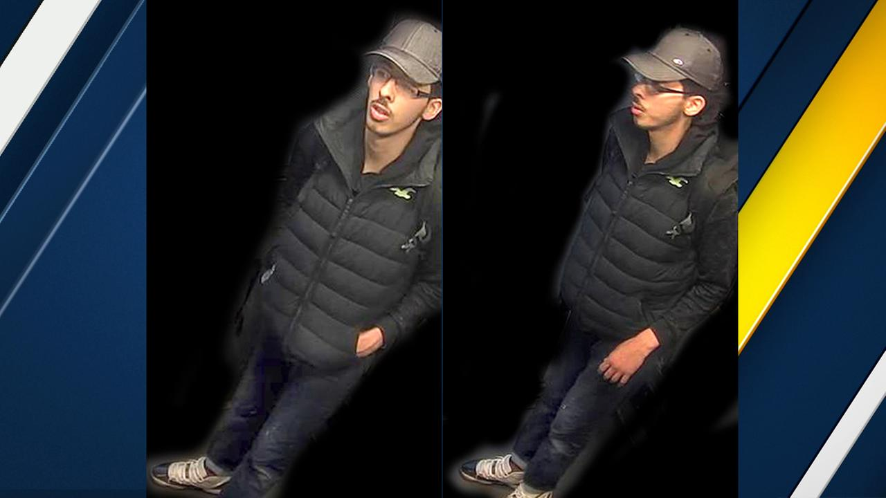 These are handout photos taken from CCTV and issued on Saturday, May 27, 2017, by Greater Manchester Police who have altered the surrounding area of Salman Abedi.