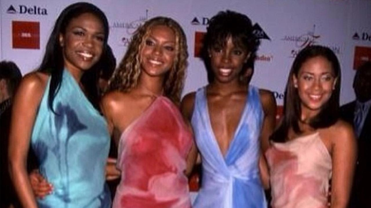 Farrah Franklin posted this photo on Instagram of the Destinys Child group in 2000. Michelle Williams, Beyonce Knowles, Kelly Rowland and Farrah Franklin are seen (left to right).