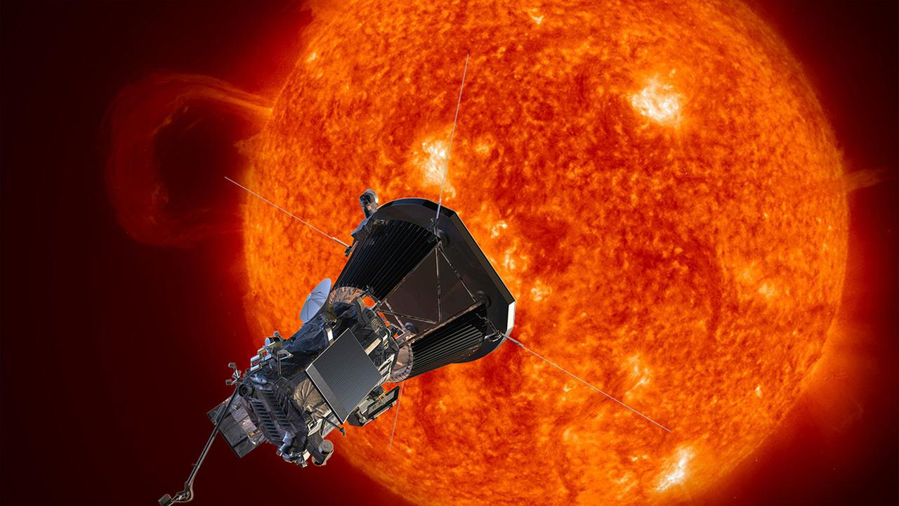 This image made available by the Johns Hopkins University Applied Physics Laboratory on Wednesday, May 31, 2017 depicts NASAs Solar Probe Plus spacecraft approaching the sun.