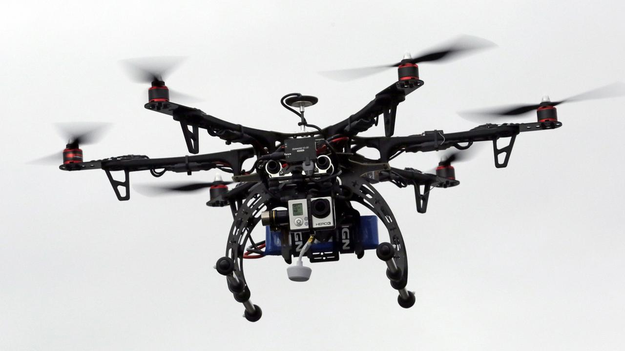 In this Feb. 13, 2014, file photo, a drone is demonstrated in Brigham City, Utah.
