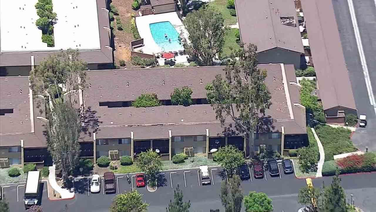 The body of a woman was found behind a carport at an apartment complex in the 900 block of South Idaho Street in La Habra Monday, July 21, 2014.