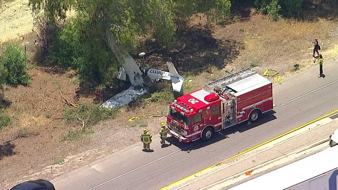 Two people survive plane crash near Interstate 10 in Riverside County
