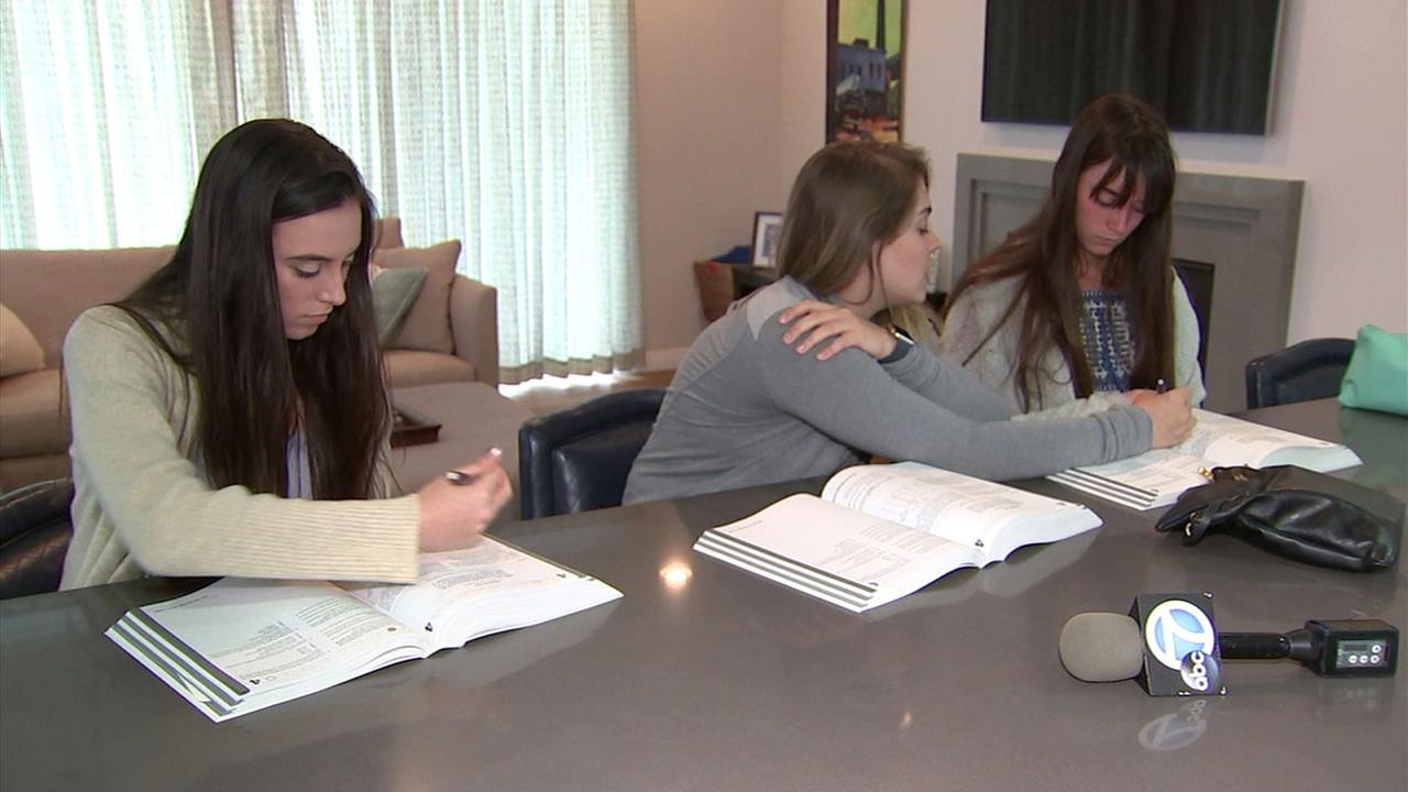 Sarah and Hannah Fahn of Pacific Palisades worked with a tutor for months to prepare for the ACT, only to learn their tests were lost.