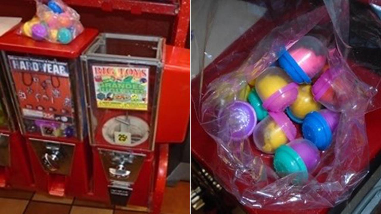 Police issue alert after vending machine toys found to contain cocaine