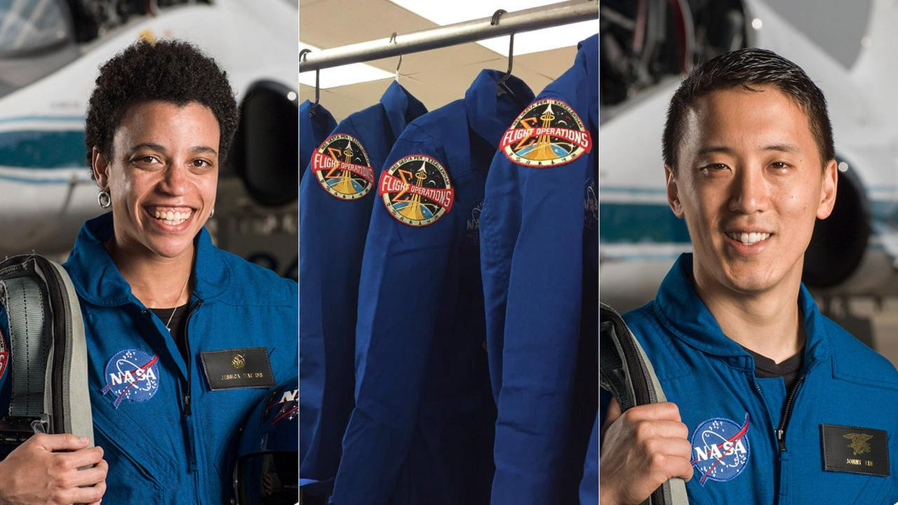 Jessica Watkins and Jonny Kim are among NASAs class of 2017 astronauts who were introduced at the Johnson Space Center in Houston on Wednesday, June 7, 2017.