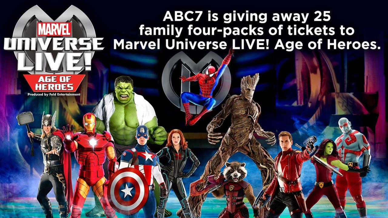 Enter for a chance to win tickets to Marvel Universe Live! Age of Heroes