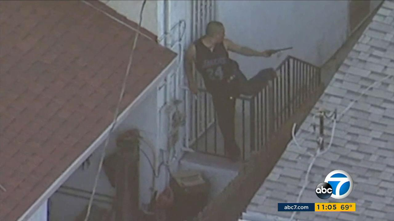 South LA suspect takes shots at officers