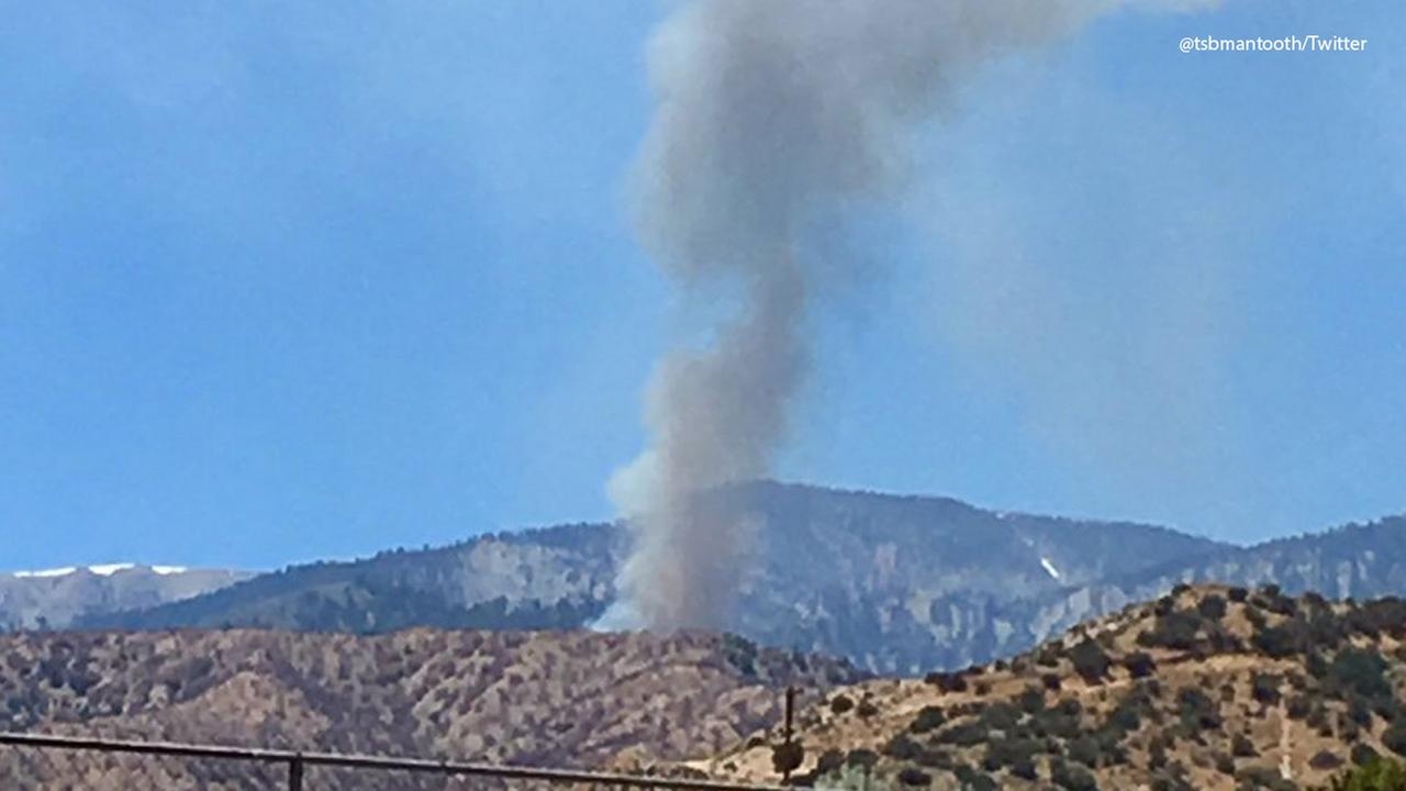 Fire Burning in Wrightwood Area Prompts Evacuations, Road Closure