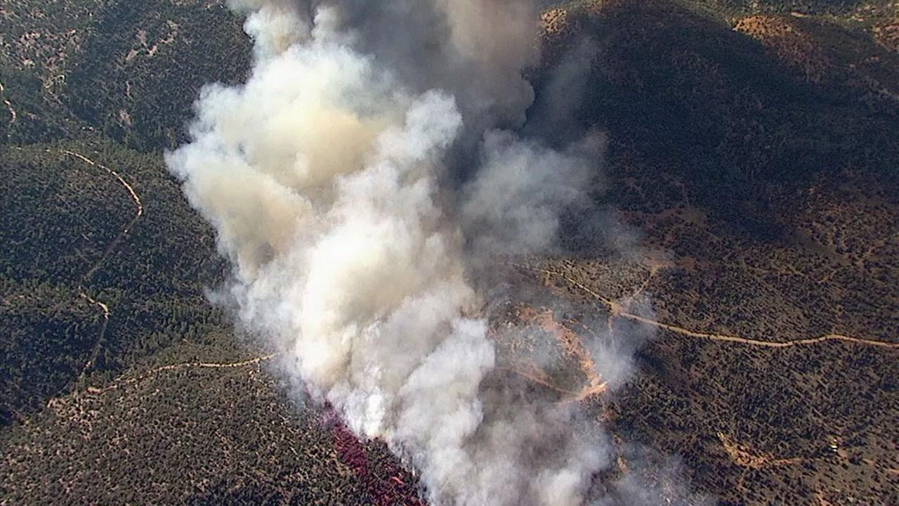 Fire in the Mountains: Holcomb Fire Burns Near Big Bear