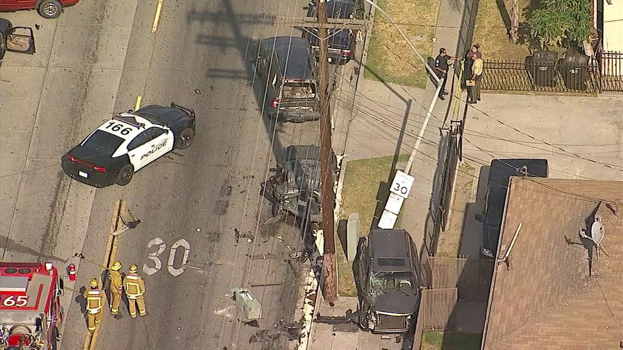 Car theft suspect shot dead by police after chase in South Gate