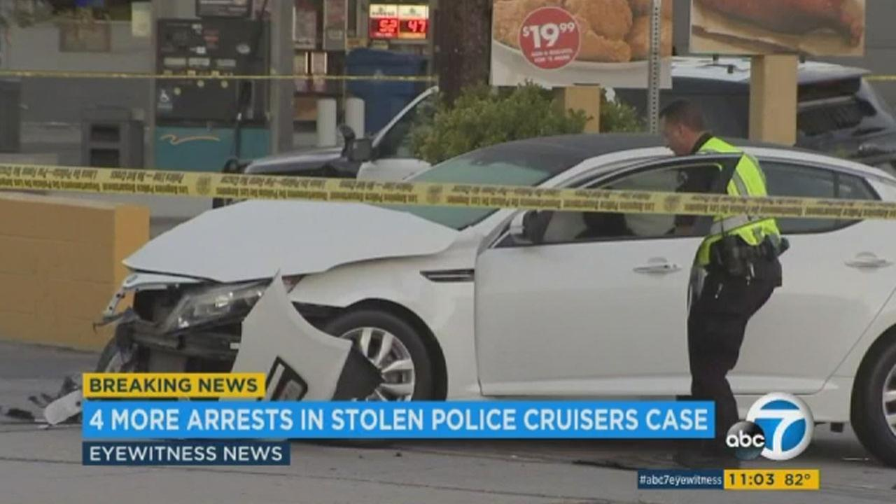 4 more LAPD cadets arrested after theft of police vehicles