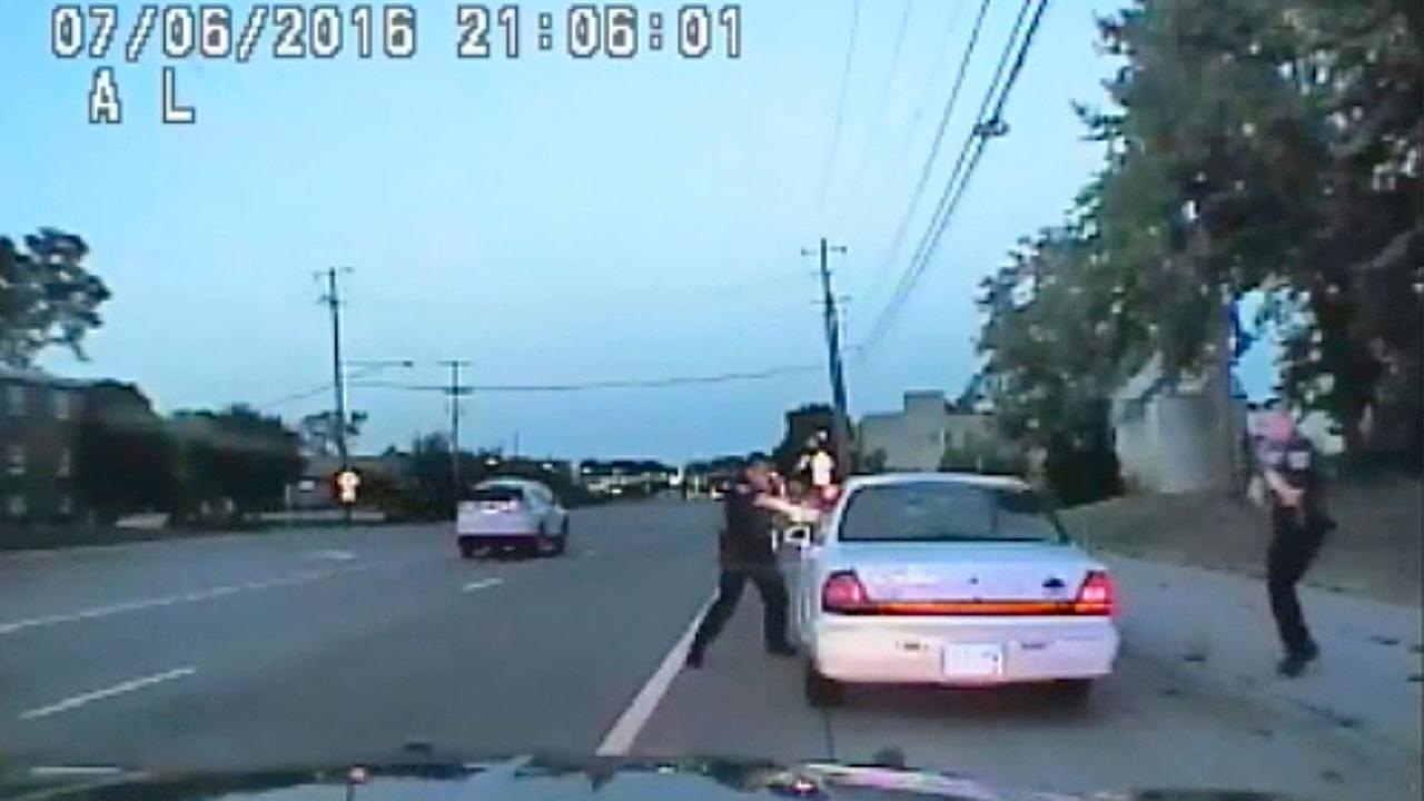 In this image made from July 6, 2016, video captured by a camera in the squad car of St. Anthony Police officer Jeronimo Yanez who shot Philando Castile in the vehicle.