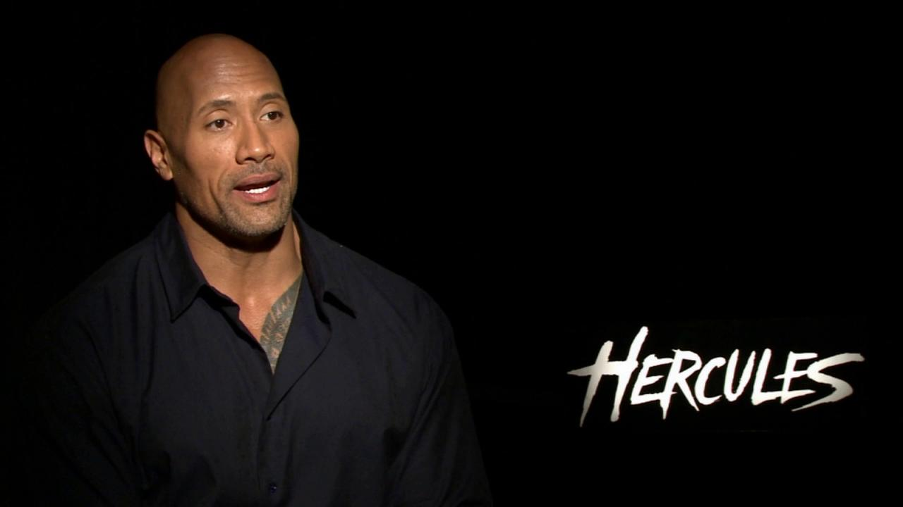 Dwayne Johnson talks to Eyewitness News about the film Hercules in this July 2014 photo.