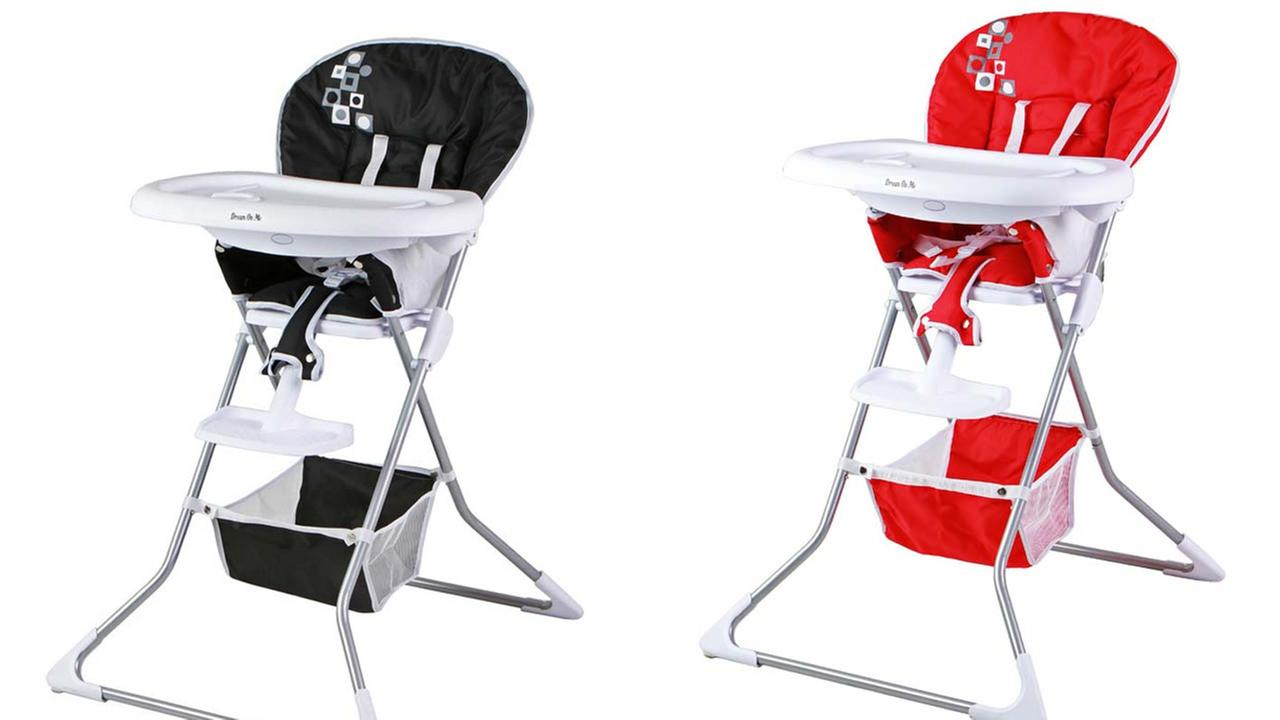 These images show the Dream On Me Dinah High Chair.