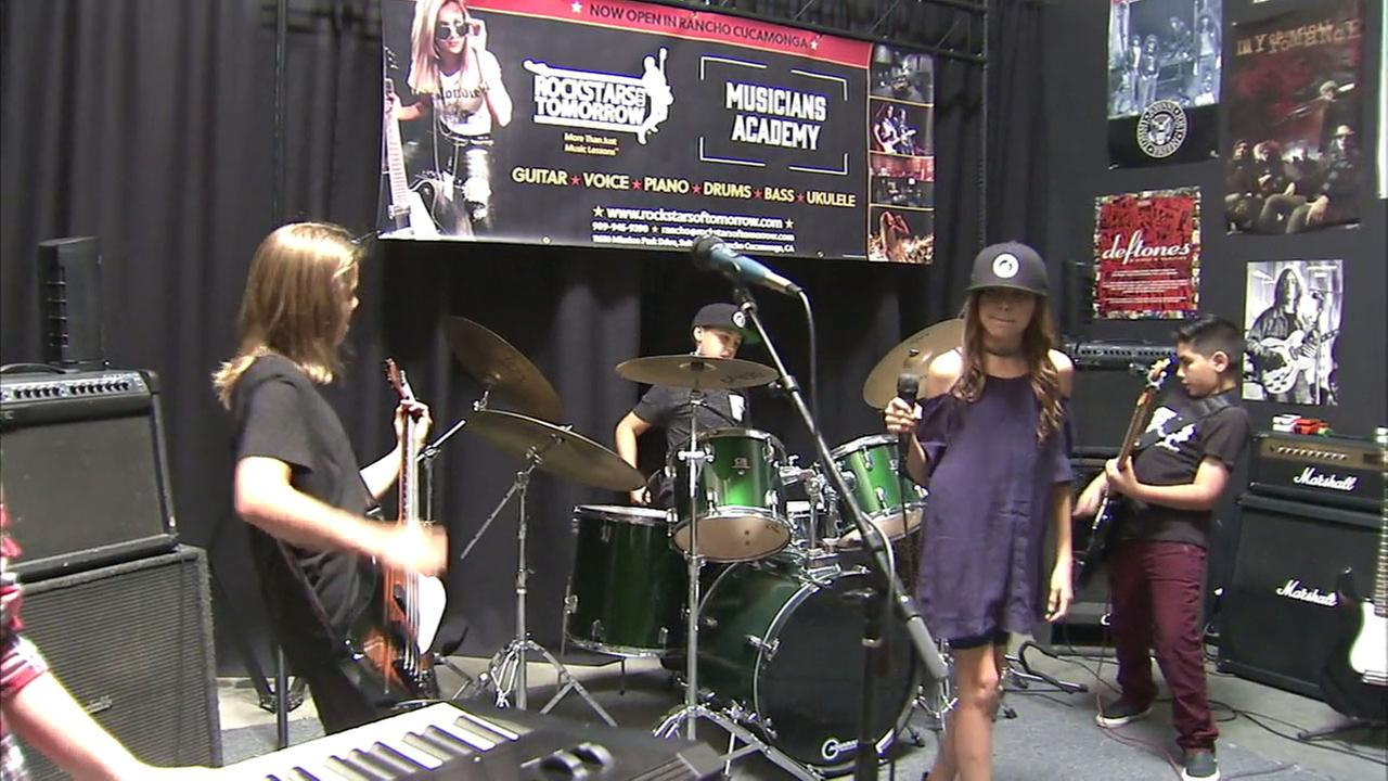 A group of talented young performers are fulfilling their musical dreams at a special Inland Empire summer camp - Rock Stars of Tomorrow.