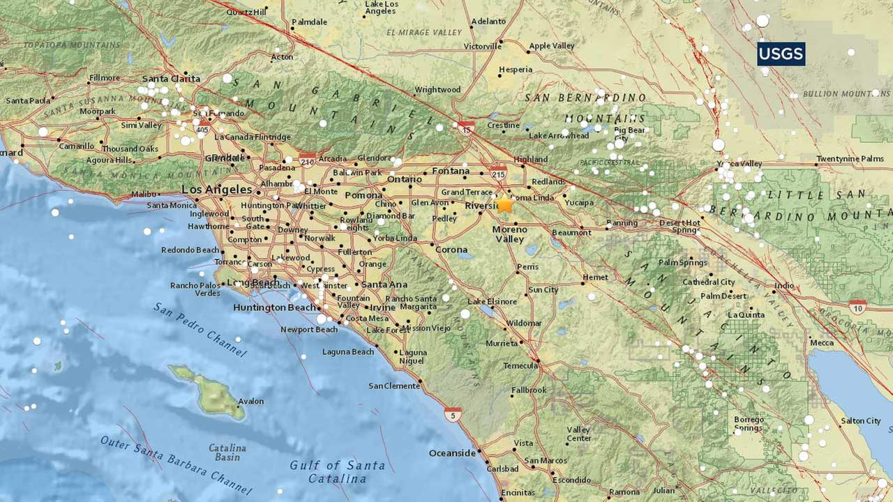 Earthquake with preliminary magnitude 32 hits near Grand Terrace