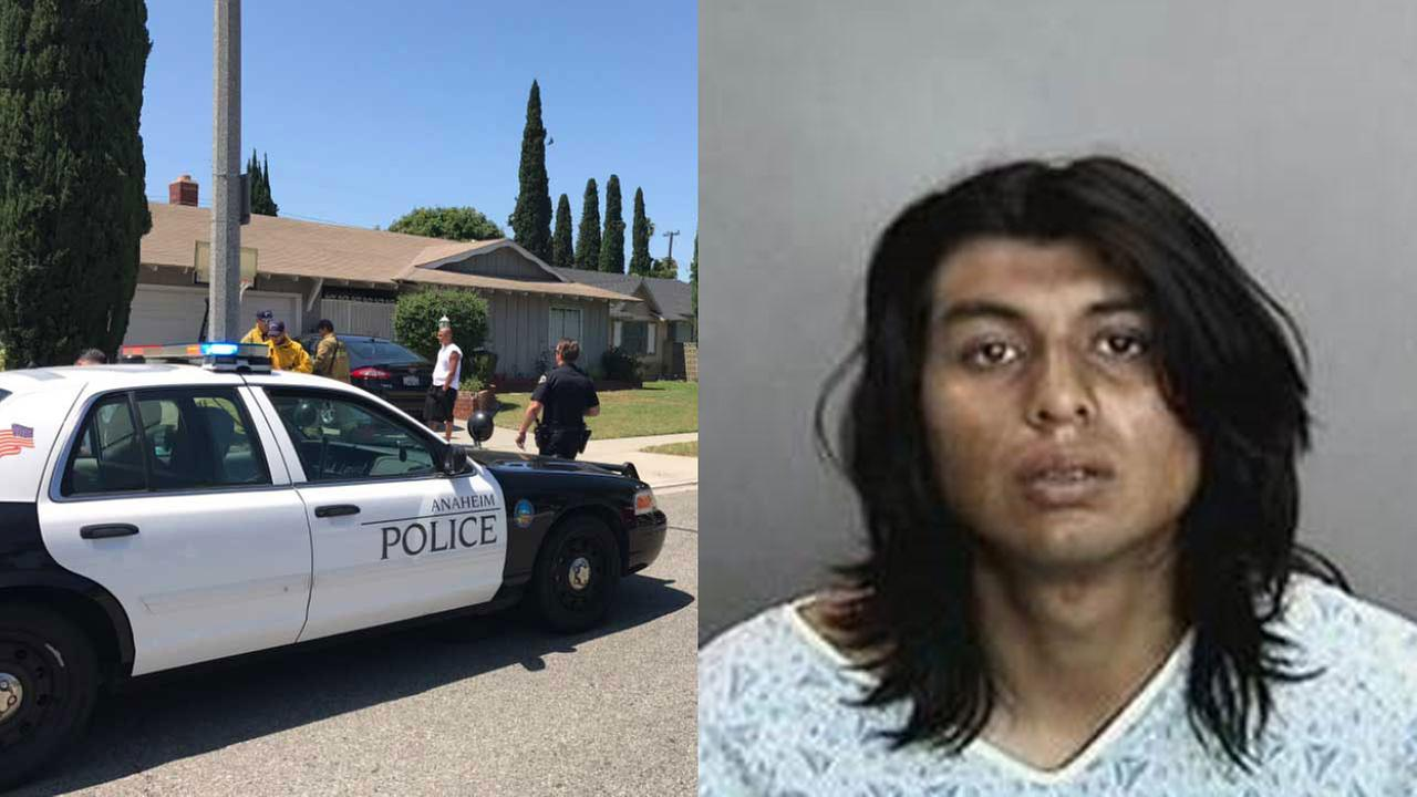 Gino Fuentes, 20, was arrested  by Anaheim police for the stabbings.