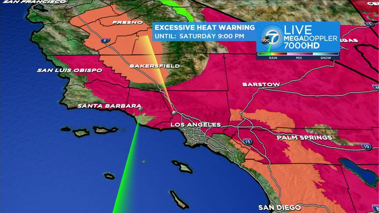 Excessive heat warnings in effect across SoCal this weekend